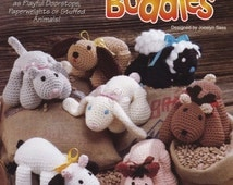 Bean Bag Buddies, Crochet Pattern Booklet The Needlecraft Shop 921103 Toy Paperweight Doorstop Stuffed Animal