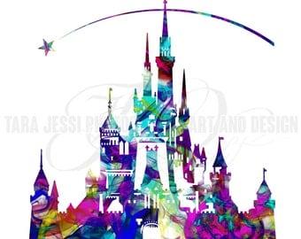 Disney Castle Print, Multi-colour.