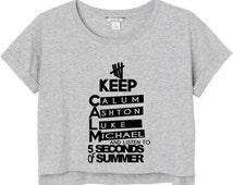 5 second of summer cropshirt T-shirt for women