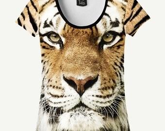 Tiger T-shirt, Tiger Shirt, Predator T-shirt, Predator Shirt, Women's T-shirt, Women's Shirt