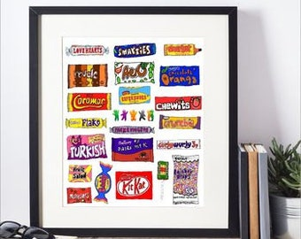 Framed Favourite Sweets Print