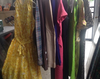 Collection of Vintage Petite Dresses and Skirts