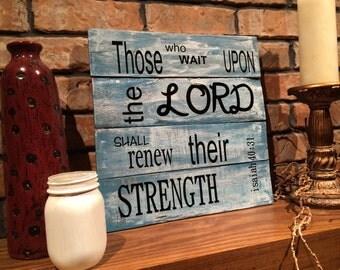 Pallet scripture art