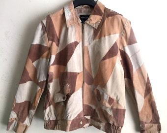 Vintage Robert Louis Suede Leather Patchwork Jacket