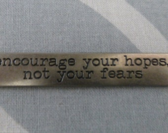 Tim Holtz Idea-ology word band - Encourage Your Hopes Not Your Fears