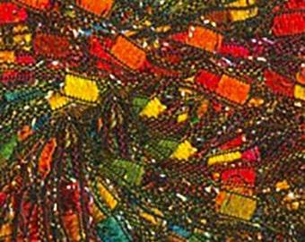 Knitting Fever Dazzle Metallic Ribbon, Ladder Yarn