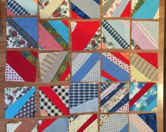 Vintage Quilt Squares circa 1960's and before