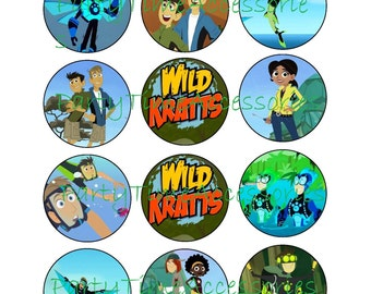 Wild Kratts Edible Cupcake/Cookie Toppers for Birthday Party or other Special Occasion!