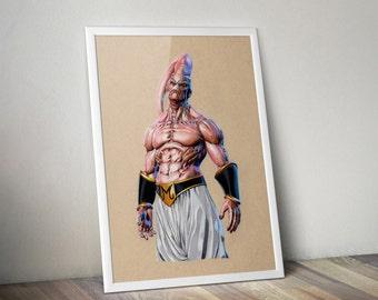 Majin Buu - Fine Art Print - A4
