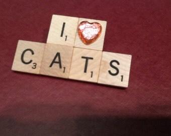 I Heart Cats pin (pink heart)