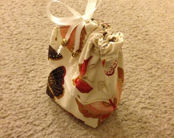 Butterfly Reversible Trinket Bag