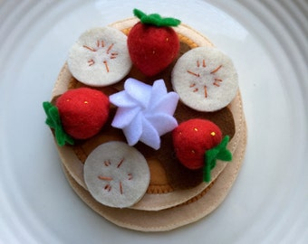 pancakes for breakfast felt play food