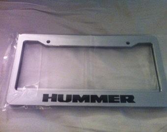Big Truck - Hummer -  Chrome Automotive License Plate Frame