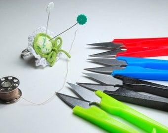 Plastic thread trimmer, thread cutter, sewing accessory, mini scissors