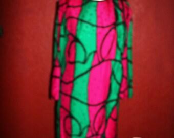 Stanley Sherman 100% Silk Shift Dress size 10