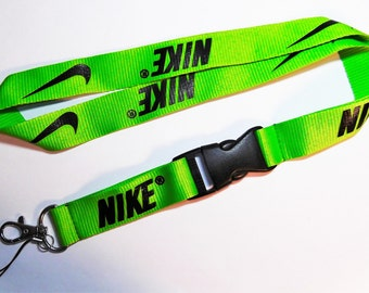 NIKE Black On Lime Green Breakaway Lanyard