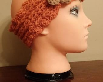 Autumn Orange headband/earwarmer