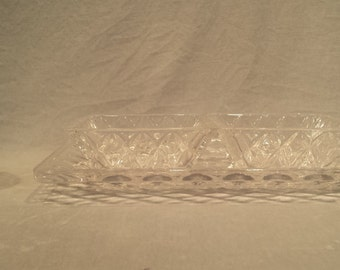 Crystal Clear Crystal Tray With Matching Bowls