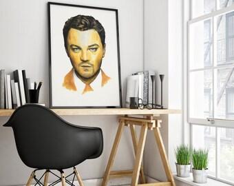 Print realistic and original actor Léonardo DiCaprio