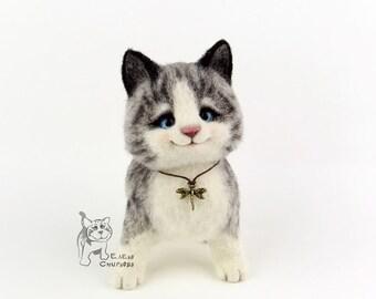 Needle Felted Kitten TABBI