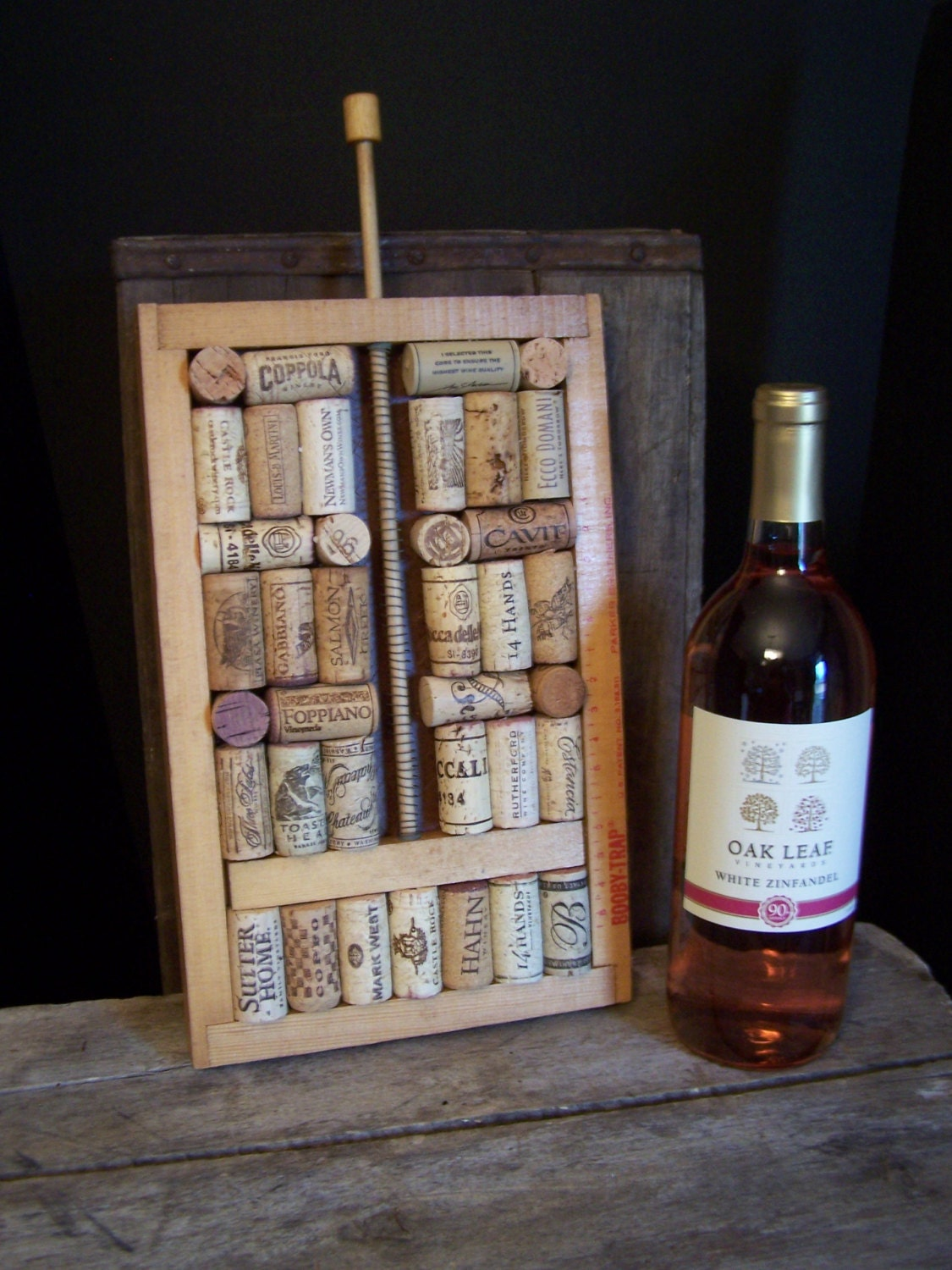 Unique wine cork wall art table art conversational piece for Wine and painting mn
