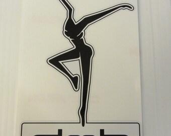 "DMB, Dave Matthews Decal, FIRE DANCER, Black & White 7""x5"" Car Window decal, Sticker"
