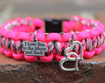 Neon Pink Moon and Back Bracelet