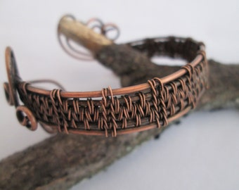 Geneva cuff, Tutorial PDF, copper cuff bracelet tutorial, wire weave tutorial, jewelry tutorial