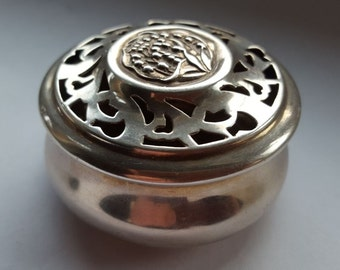 Antique Silver Pot Pourri from William Comyns and Sons of London