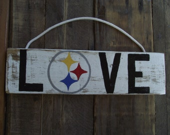 Steelers sign | Pittsburgh Steelers sign | Steelers wood pallet sign | Steelers gift | Steelers stocking stuffer | Steelers wall decor