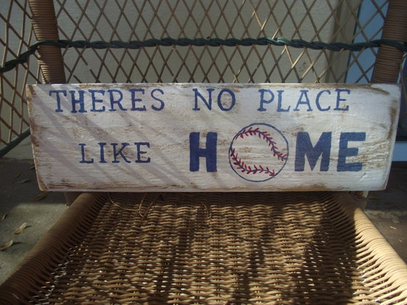 Baseball HOME sign Theres No Place Like Home by ...