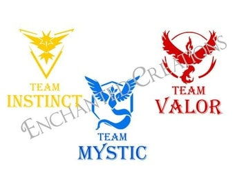 SVG/EPS/DXF file -Pokemon Go Teams - Valor, Instinct, Mystic
