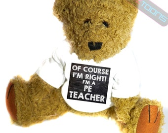 PE Teacher Novelty Gift Teddy Bear