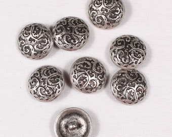 6 buttons 23mm, metal, silver, to stem (3878)