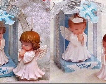 Boy & Girl Angels Praying 3D Silicone Candle Moulds