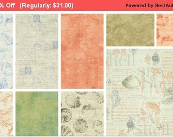 SALE Sea Cottage - Layer Cake - Clothworks - Beautiful Print Just Released!