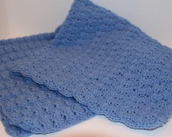 Baby/Toddler Crochet Blue Baby Blanket