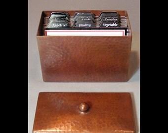 Roycroft-style Copper Recipe Box