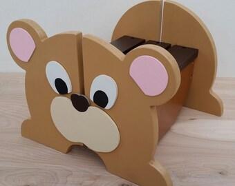 Kids Teddy Bear Step Stool, Butterscotch Step Stool, Wooden Step Stool, Toddler Stool, Teddy Bear, Childs Step Stool, Name Stool, Nursery