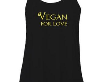 Vegan with love sleeveless top