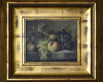 C. Madsan Still Life Fruit Oil on Canvas ca. 1880's