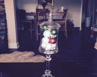 Christmas Filled Apothecary Jar