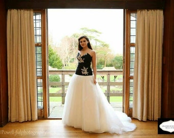 Black and Ivory wedding dress