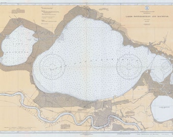 1934 Map of Lake Pontchartrain and Maurepas New Orleans