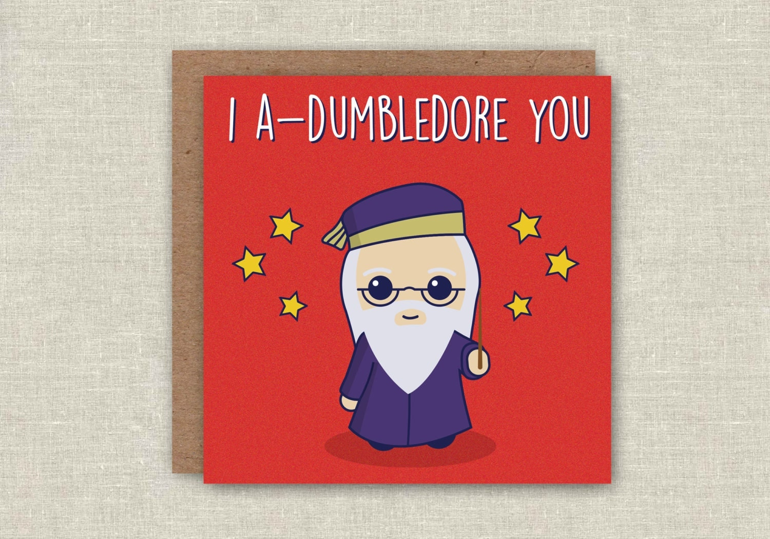 Harry Potter Birthday Card I Adumbledore You
