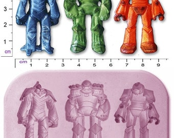 TRANSFORMERS ROBOTS x 3 Medium Craft Sugarcraft Soap Fimo Mould