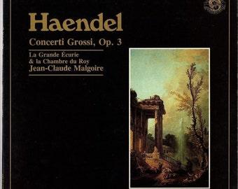 Haendel Concerti Grossi Op.3~Jean-Claude Malgoire~1983 CBS Records~Vinyl LP~NM