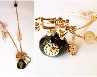 Necklace vintage telephone * Neklace Vintage Telephone
