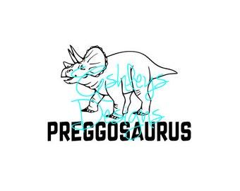 Triceratops Dinosaur Preggosaurus SVG File
