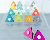 Formica and sterling silver reversible studs